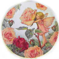 Flower Fairies Rose Melamine Plate