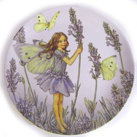 Flower Fairies Lavender Melamine Plate
