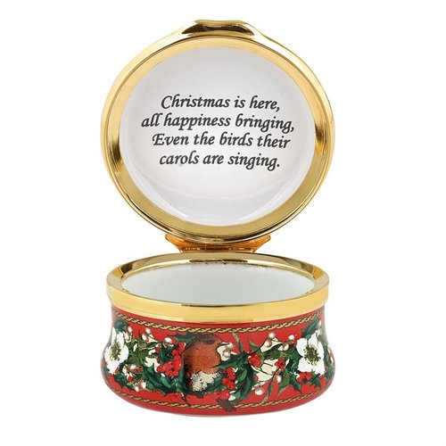 Halcyon Days 2019 christmas box enamel box
