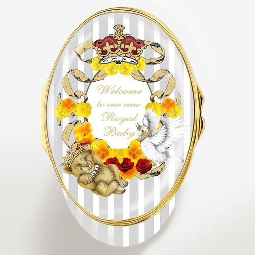 Halcyon Days Halcyon Days Welcome to Our New Royal Baby Sussex Enamel Box