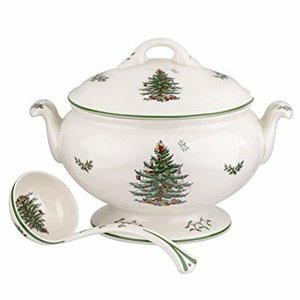Spode Spode Christmas Tree 75th Anniversary Footed Tureen and Ladle