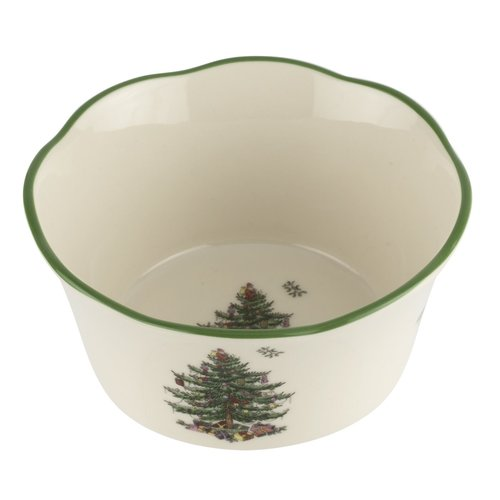 Spode Spode Christmas Tree Flared Scalloped Bowl