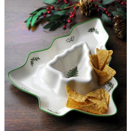 Spode Spode Christmas Tree Chip and Dip