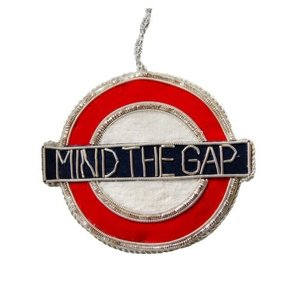 St. Nicolas St. Nicolas Velvet Underground Sign+Mind The Gap SS White CV Red & Blue Ornament