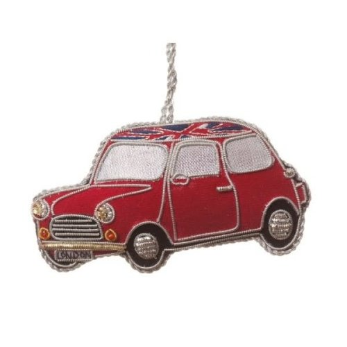 St. Nicolas St. Nicolas Classic Red Mini Car Ornament
