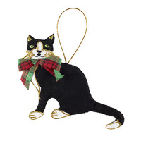 St. Nicolas Scottish Cat with Tartan Bow 4137SK