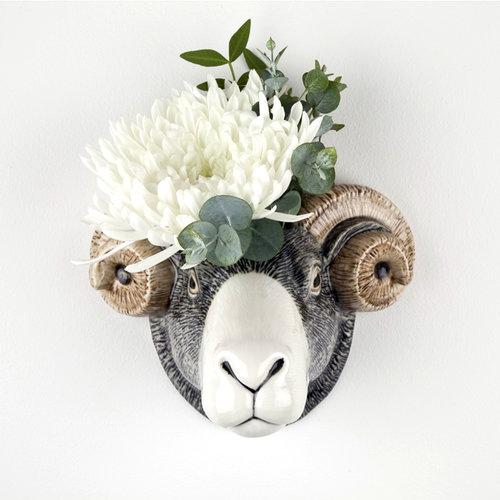 Quail Ceramics Quail Swaledale Sheep Wall Vase