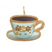St. Nicolas Tea Party Teacup & Saucer Baby Blue