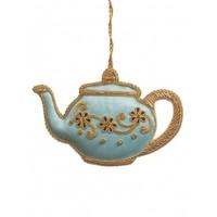 St. Nicolas Tea Party Ornament Baby Blue