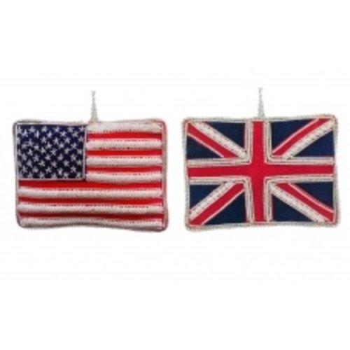 St. Nicolas St. Nicolas USA & Union Jack Flag
