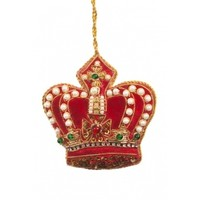 St. Nicolas Pearl Crown Red + Gold