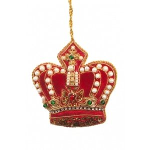 St. Nicolas St. Nicolas Pearl Crown Red + Gold