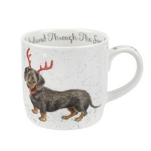 Wrendale Wrendale Dachsund Through the Snow Small Mug