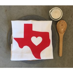 Texas Love Tea Towel
