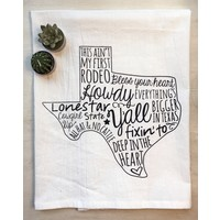 Texas Sayings Tea Towel