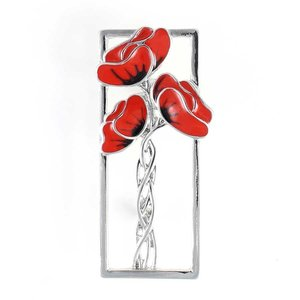 Mackintosh-Style Poppy Brooch