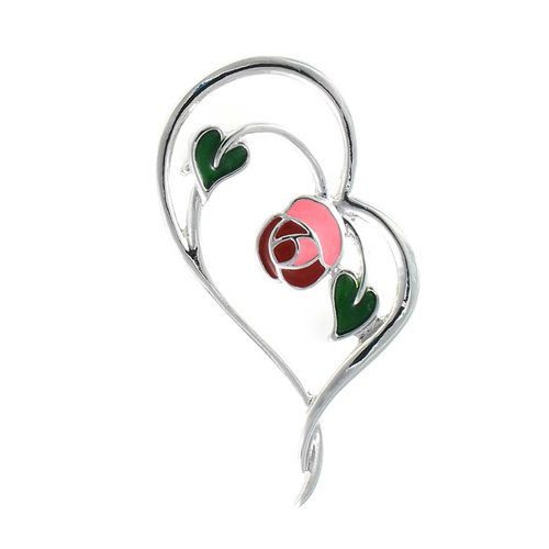 Mackintosh Enchanted Heart Brooch