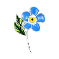 Forget-me-not Brooch on Stem