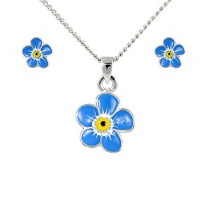 Forget-me-not Pendant and Earrings