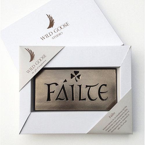 Wild Goose Wild Goose Failte Plaque