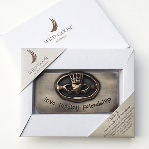 Wild Goose Wild Goose Claddagh Love Loyalty plaque