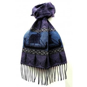 Calzeat Calzeat & Co. Viking Ships Dragon Jacquard Scarf