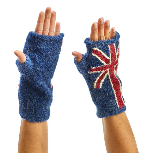Peruvian Trading Co. Peruvian Trading Co. Fingerless Gloves Union Jack