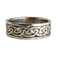 Wide Celtic Knot Ring