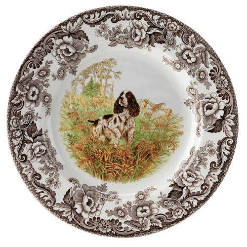 Spode Spode Woodland 20cm Salad Plate Springer Spaniel