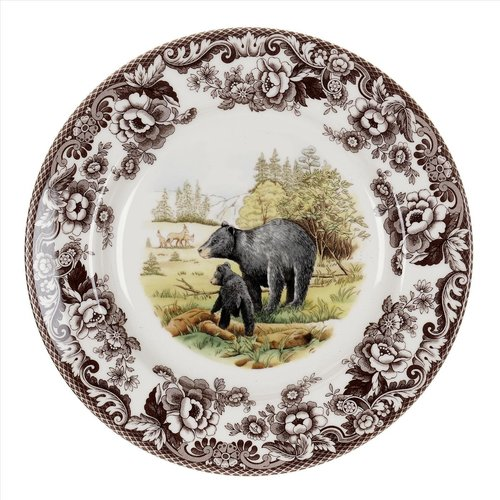 Spode Spode Woodland 27cm Dinner Plate Black Bear
