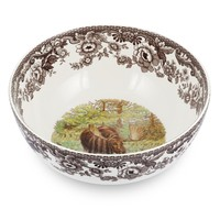 Spode Woodland Round Salad Bowl Moose