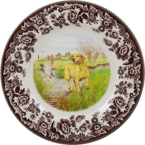 Spode Spode Woodland 27cm Dinner Plate Yellow Lab