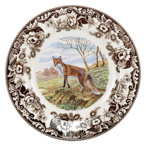 Spode Spode Woodland 27 cm Dinner Plate Red Fox