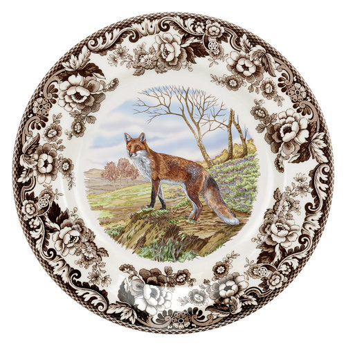 Spode Spode Woodland 27 cm Dinner Plate Red Fox