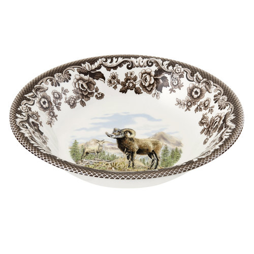 Spode Spode Woodland Ascot Cereal Bowl Bighorn Sheep