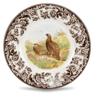 Spode Spode Woodland 20cm Salad Plate Red Grouse