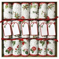 Caspari English Winter Garden Christmas Crackers