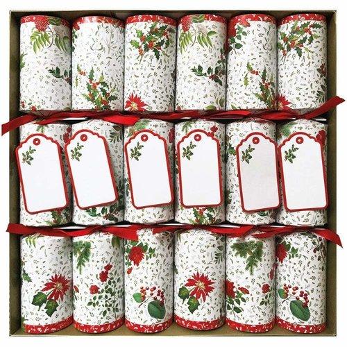 Caspari Caspari English Winter Garden Christmas Crackers