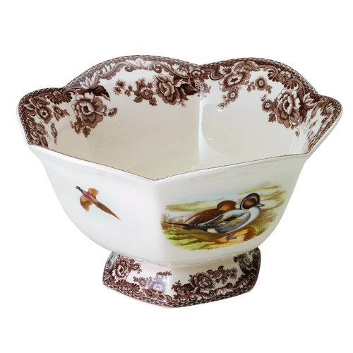 Spode Spode Woodland Hexagonal Footed Bowl