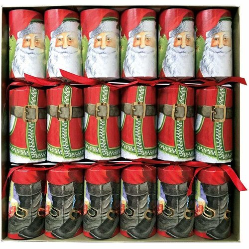 Caspari Caspari Santa Claus Lane Crackers 6 Count