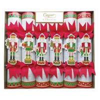Caspari Nutcracker Parade Gold Christmas Crackers 6 Count