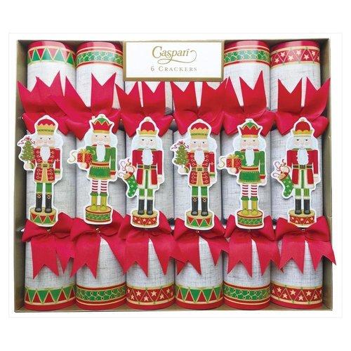 Caspari Caspari Nutcracker Parade Gold Christmas Crackers 6 Count