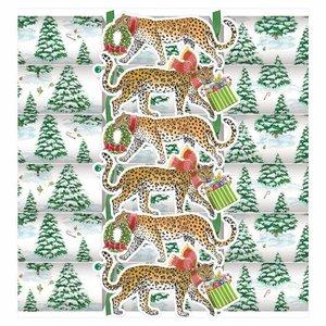 Caspari Caspari Leopards in Snow Crackers 6 Count