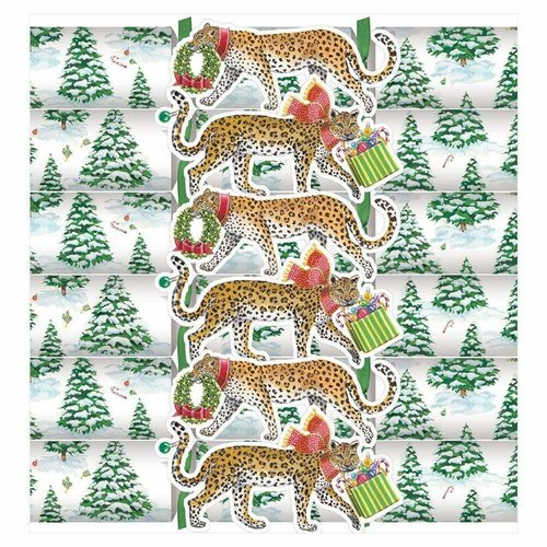 Caspari Caspari Leopards in Snow Crackers 6 Count