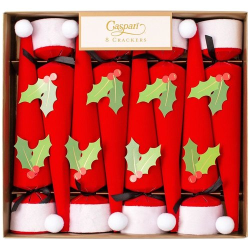 Caspari Caspari Christmas Cone Crackers Santa Hats 8 Count