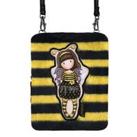 "Gorjuss ""Bee-Loved"" Fuzzy Shoulder Bag"