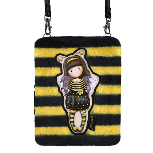 "Santoro London Gorjuss ""Bee-Loved"" Fuzzy Shoulder Bag"
