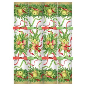 Caspari Apples and Greenery Christmas Crackers