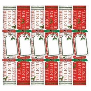 Caspari Caspari Yuletide Cheer Christmas Crackers 6 Count