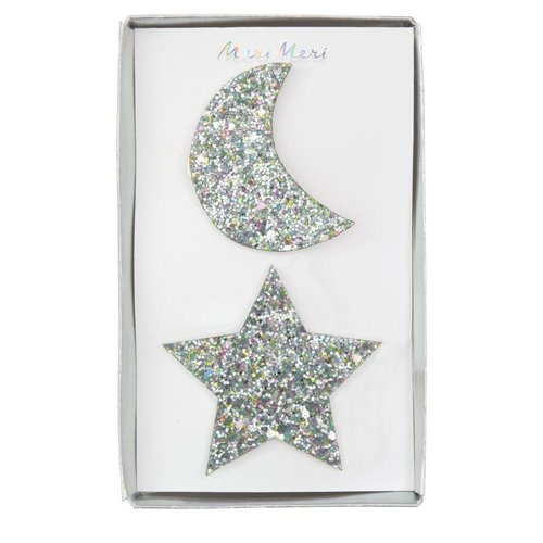 Meri Meri Large Star and Moon Hair Clips
